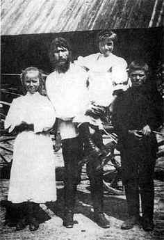 Rasputin and his three children Dmitri, Varvara and Maria