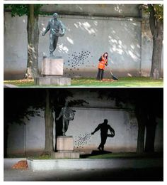 night and day street art