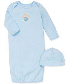 Little Me Baby Boys' 2-Piece Cute Bear Hat & Gown Set
