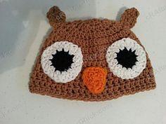 Ravelry: Hootie the Wise Owl Beanie Hat Crochet Pattern pattern by Niki Wyre