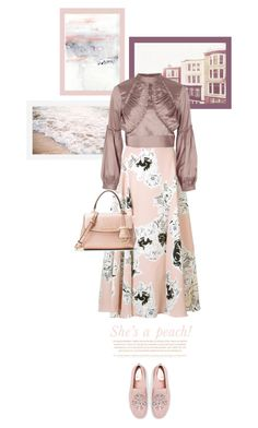 """""""She's a peach"""" by aleks-g on Polyvore featuring Roksanda, Pottery Barn, River Island and Lazy Days"""