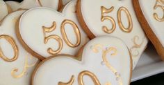 50th Anniversary Cookies. Hope to do these for my parents some day.   50 th Anniversary  Cookies   Pinterest   50th Anniversary, 50th Anniversary Cookies and A…