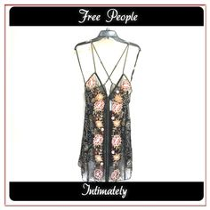 Free People top ✨This top is so gorgeous,...all over embroidery with beautiful flowers!Sheer fabric gives you a very sophisticated look!✨✨Intimately Free People ✨ Free People Tops Tunics