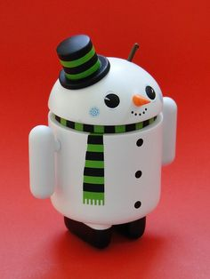 Gary Ham's android figure variant: snowman (2010) by j_pidgeon, via Flickr