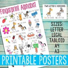 Fingerprint Alphabet Posters