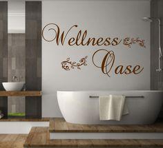 Wandtattoo Badezimmer Wellness Oase Wanddekoration von MEG-Wandtattoos/Wall-Sticker auf DaWanda.com
