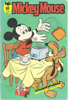 South Africa - Mickey Mouse (English). Scanned image of comic book (© Disney) cover.