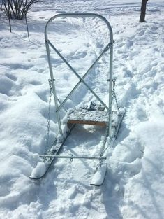 DIY   Homemade Dog Sled / Kick Sled / Snowmobile Sled