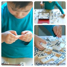 My students enjoy dominoes -- it becomes an independent activity after a few rounds of play with them.  Here are some more ideas in how to appropriately use dominoes in preK