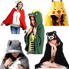 Cosplay Animation Multi Patterns Kigurumi Cloak Cape Shawl Soft Plush Costume