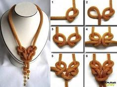 How to Knot A Necklace Quickly ? It's very easy . You can decorate it with some pearls, flower...