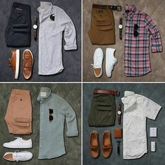 155 most popular casual outfits ideas for men – page 1 Formal Men Outfit, Look Man, Outfit Grid, Men's Wardrobe, Business Casual Outfits, Men Style Tips, Mode Style, Mens Clothing Styles, Men Dress