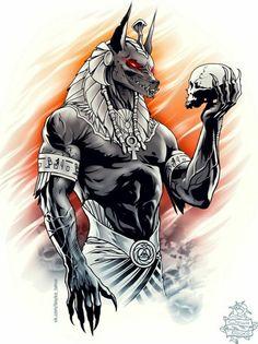 Excellent simple ideas for your inspiration Foto Fantasy, Dark Fantasy Art, Dark Art, Anubis Tattoo, Egyptian Mythology, Egyptian Symbols, Gott Tattoos, Body Art Tattoos, Sleeve Tattoos
