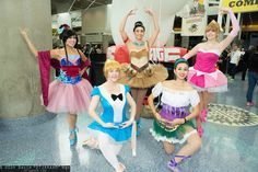 Mulan, Alice, Pocahontas, Esmeralda, and Princess Aurora | Comikaze Expo 2014 - Saturday