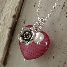 Murano Glass Heart Necklace.  Something to make once I dig my bead out!