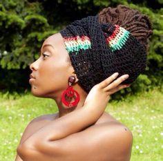 Locs and headwrap! Dread Wraps, Crochet Locs Hair, Crochet Hats, Crochet Lion, Crochet Headbands, Hair Art, My Hair, Streetwear, African Head Wraps