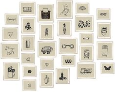 Hugo Guiness for John Derian framed prints