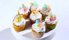 Vanilkové cupcakes s limetkovou plnkou   DobreJedlo.sk