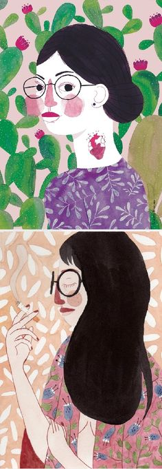 Beautiful illustrated ladies by Brunna Mancuso.
