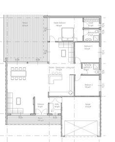 Plan 537-66  1851 sq ft  3 beds  2.00 baths  48 ft wide  60 ft deep