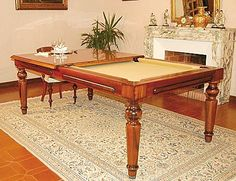 Convertible pool table / dining table