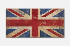 Union Jack Union Flag design pigment on stretched 1.5 inch canvas panel. Ready-to-hang. - - - - - - - - - - CANVAS PANEL DESCRIPTION  This item is
