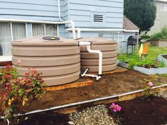 These Rain Tanks At A West Seattle Church Provide 1320 Gallons Of Rooftop  Rainwater Storage.