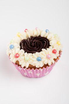 Recept voor cupcake met toefjes