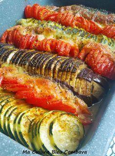 Légumes du Soleil au Curry et Mozzarella, Confits au four