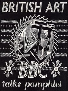 British Art - BBC talks pamphlet by Eric Ravilious, 1934 by mikeyashworth, via Flickr