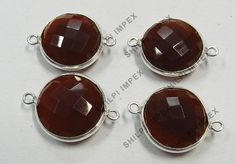 5Pc! Wholesale Lot 925 Solid Silver Red Onyx Connectors Woman Fashion Jewelry