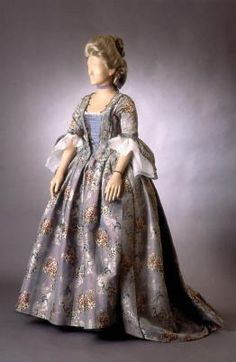 Wedding dress of Beata Maria Munsterhjelm, dates back to 1773. in the collections of The National Museum of Finland, Helsinki, Finland.
