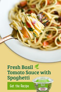 This simple dinner recipe of Fresh Basil Tomato Sauce with Spaghetti is bursting with flavor thanks to Garlic Stir-In Paste from Gourmet Garden. Enjoy 4 weeks of fresh flavor without any washing or chopping. Tap the Pin to view the full recipe. Spaghetti Recipes, Pasta Recipes, Dinner Recipes, Cooking Recipes, Italian Dishes, Italian Recipes, Pasta Dishes, Food Dishes, Great Recipes
