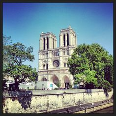 Next stop... Cathédrale Notre-Dame de Paris! We'll try to take a tour inside, as well!