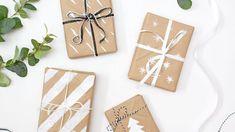 Obyčejné papírové tašky z hnědého papíru jako úžasný balící papír na dárky