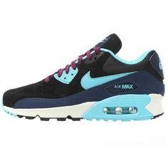 NIKE-WMNS-AIR-MAX-90-LEATHER-Damen-Schuhe-Sneaker-Leder-NEU-skyline-womens