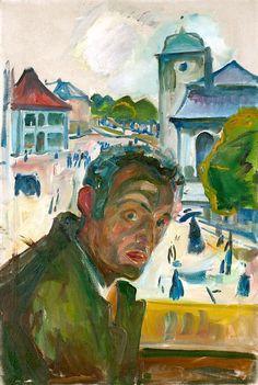 Edvard Munch, Self-portrait in Bergen, 1916