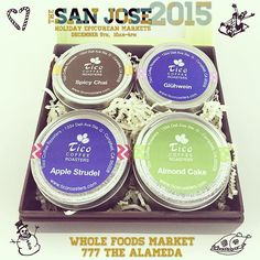 Join us tomorrow Dec 5 from 10 -4 pm for the #epicureanmarket at #WholeFoods the Alameda organized by @sjmade. You will find the most delicious treat #handcrafted and #locallymade. #free tasting of our #HolidayBlend and #winterteas !! Besides is Whole Foods 1 year #anniversary #party!! #downtownsanjose #ticoroasters #uniqueexperience #organic #holidays #stockingstuffers #gifts #christmasgifts #christmas