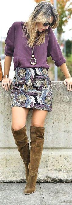 Print Skirt / Fashion By Zorannah
