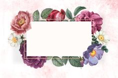 Floral framed card - Buy this stock vector and explore similar vectors at Adobe Stock Flower Background Wallpaper, Flower Backgrounds, Textured Background, Peach Background, Purple Invitations, Floral Invitation, Invitation Cards, Invite, Vintage Grunge