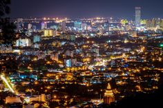 Night View of Penang Times Square, Night, Travel, Viajes, Destinations, Traveling, Trips