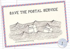 Save the postal service! with these awesome free printable postcards Printable Postcards, Us Postal Service, Going Postal, Mail Art, Love Words, Print Patterns, Screen Printing, Free Printables, Stationery
