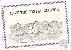 Help! Free Printable Postcards