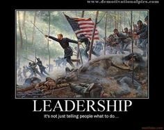 Leadership: it's not just telling people what to do...