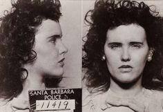 Mugshot of Elizabeth Short, The Black Dahlia, arrested for underage drinking, 1943