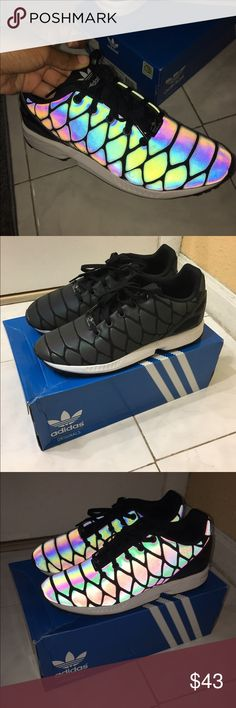 Zx flux xenopeltis k adidas These are reflective adidas that are super cute and size 6 1/2 gradeschool. Runs big Adidas Shoes Sneakers