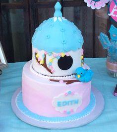 Birdie birdhouse birthday cake!!!