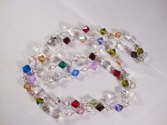 MultiColor Swarovski Bicone Necklace with by CrystalsbyGail, $30.00