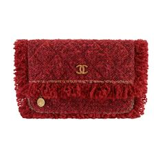 chanel tweed clutch red 800
