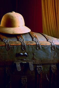 Travel Trunk and Pith Helmet
